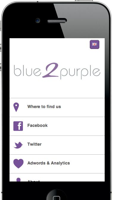 The splendid mobile site of blue2purple