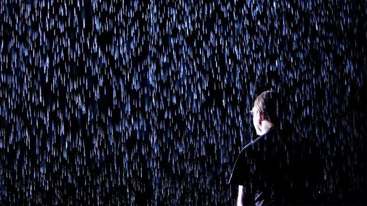 """Rain Room"" interactive art installation realised by Random International"