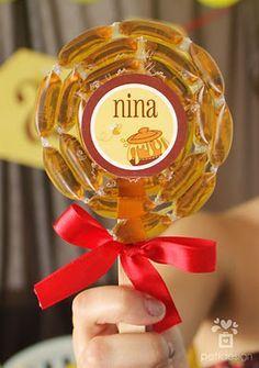 Pirulito de mel, uma excelente idéia!