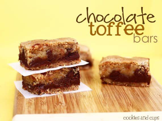 Chocolate Toffee BarsChocolates Toffe Bar, Toffee Bars, S'Mores Bar, S'More Bar, Chocolates Toffee Bar, Favorite Bar, Cookies Recipe, Yummy Treats, Brownies