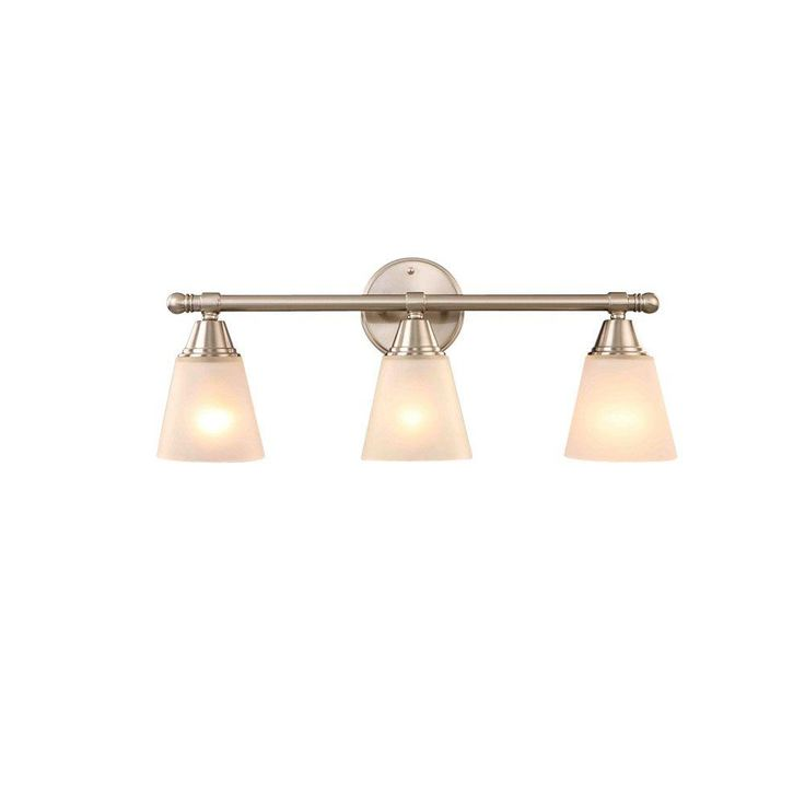 Hampton Bay 3 Light Brushed Nickel Vanity Gjk1393a 4 Bn At The Home Depot For The Home