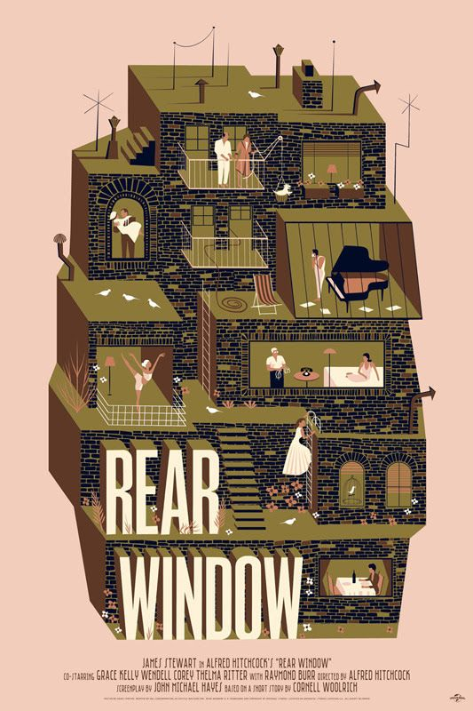 Rear Window by Adam Simpson love this artwork .. Takes me right back to the movie.