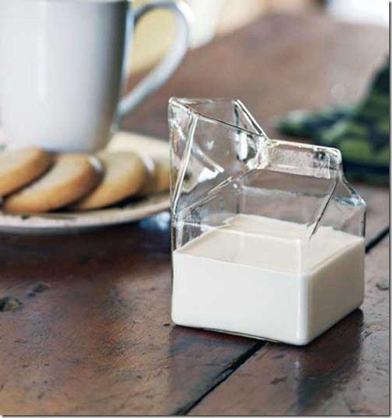 Glass Half Pint Milk/Creamer... $13