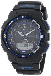 Casio Men's SGW500H-2BV Black Resin Analog Digital Twin Sensor Multi-Function Watch