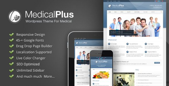 Medical Plus - Responsive Medical and Health Theme - Corporate WordPress