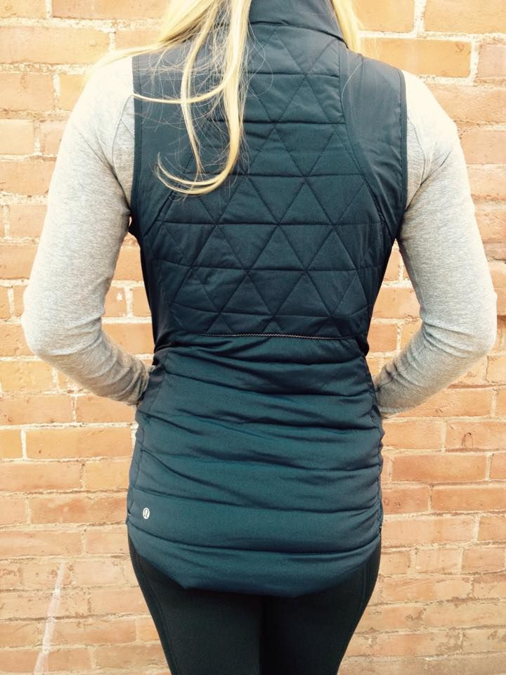 fluffed up vest - back