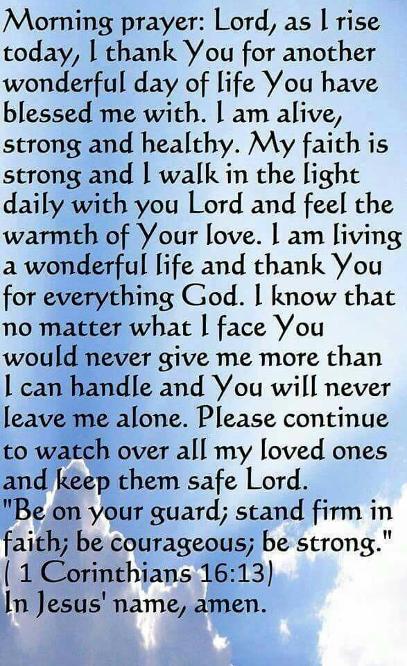 Start your day with this prayer.