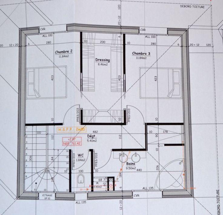 17 meilleures id es propos de plan maison etage sur for Maison minimaliste plan