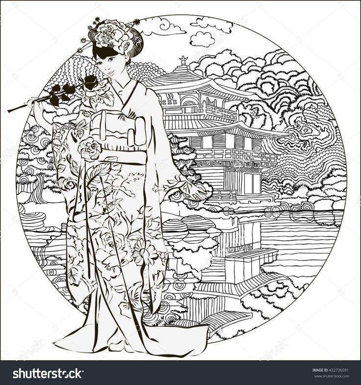 1151 Best Colouring Images On Pinterest Colouring Pages Print Japanese Coloring Pages