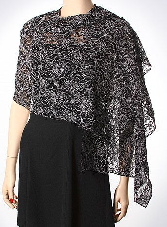Lace shawls for dresses