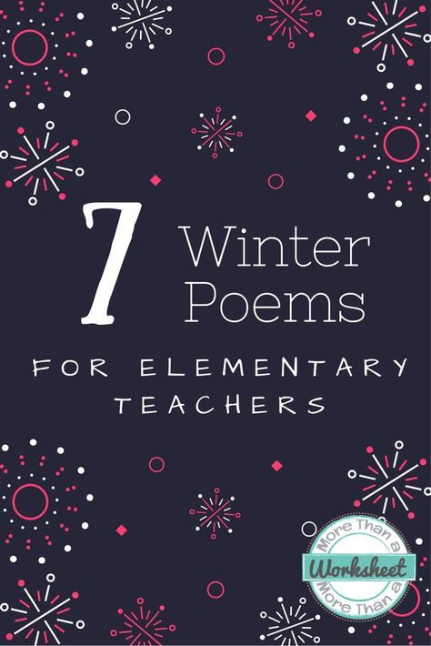 Winter Poems for Teachers