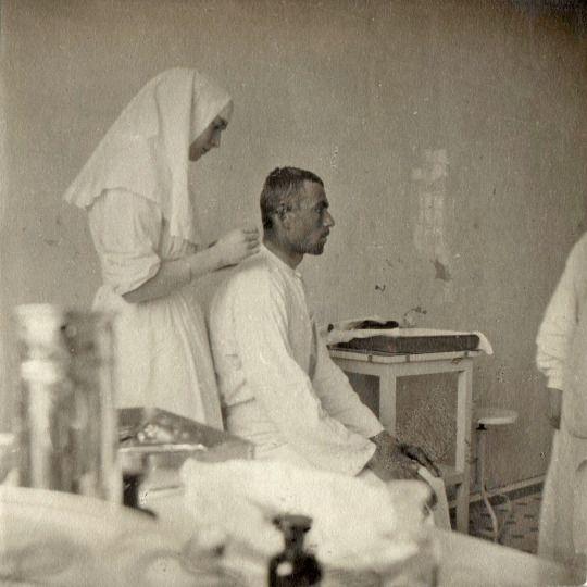 Tatiana Romanov with a patient.