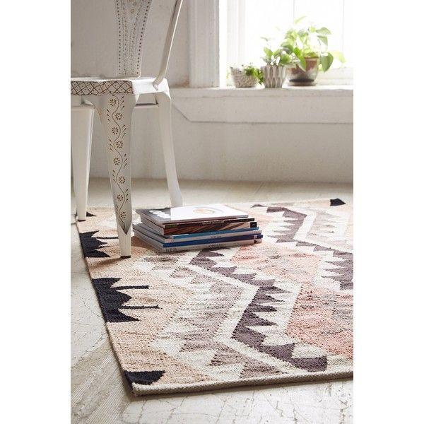 Plum Bow Samarkand Kilim Woven Rug ($99) Via Polyvore