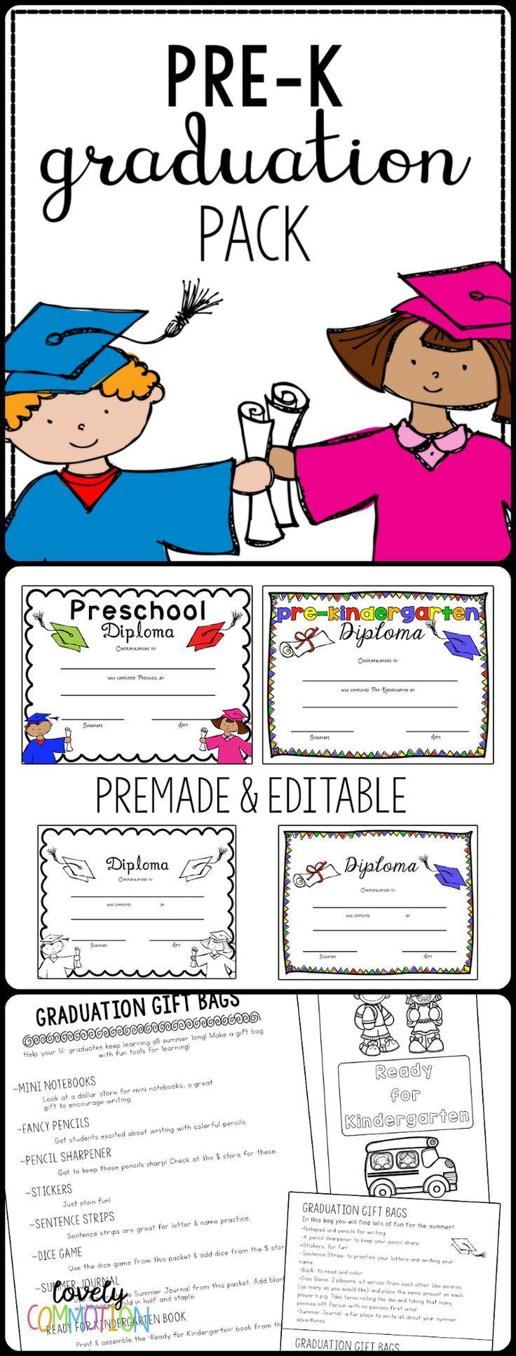 Preschool And Pre K Graduation Pack With Certificate Preschool Graduation Preschool Diploma Pre K Graduation [ 1932 x 736 Pixel ]