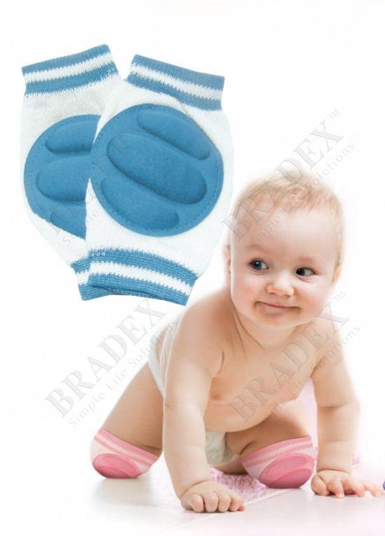 Наколенники детские для ползания АРТИКУЛ: DE 0135 Любимое чадо учиться ползать? Это большой прорыв для малыша! Но вот незадача: на крошечных коленках появляются натертости, раздражение и царапины. Позаботьтесь о комфорте Вашего ребенка – используйте детские наколенники для ползания!  • Подушечки с мягким губковым наполнителем защищают кожу малыша на любых поверхностях. • Колготки и ползунки не пачкаются и не покрываются катышками на коленях. • Гипоаллергенная основа из натурального хлопка…