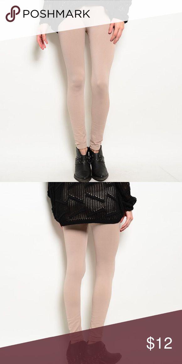 Fleece Lined Nude Leggings OS Fleece Lined Nude Leggings OS, NWT, not listed brand just similar Free People Pants Leggings