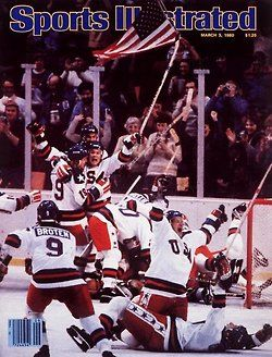 To this day, the Sports Ilustrated cover following USA's win over the Soviets is the only cover to run without a headline. No caption was needed.