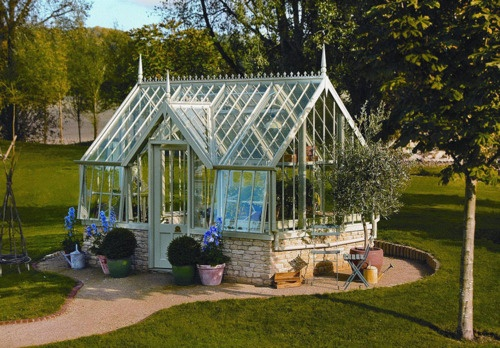 Love this Victorian-style greenhouse.                                                                                                                                                                                 More