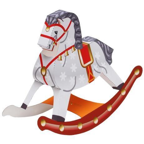 Игрушечный конь-качалка,Игрушки,Поделки из бумаги,лошадь,Животные,Поделки из бумаги,легко,легко,Динамическая игрушка,Китайский гороскоп
