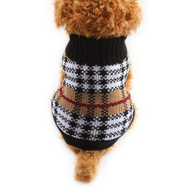 Арми магазин Плед Шаблон Собака Свитер Pet Собаки Осень Зима Свитера 6091023 Щенок Одежда Зоотоваров XS Sml XL