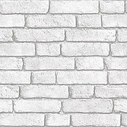 View White Brick Wall Wallpaper details