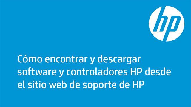 Descargas de software y controladores HP para impresoras, PC portátiles, PC de…