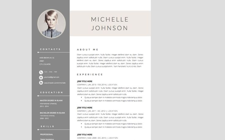 The Best CV \ Resume Templates 50 Examples Design Shack - blank brochure templates