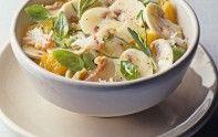 Entrée rapide : Salade de champignons de Paris à l'avocat, crabe et basilic