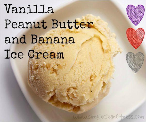 Vanilla Peanut Butter Banana Ice Cream - 21 Day Fix Recipes - Clean Eating Recipes - Healthy Recipes - Desserts - 21 Day Fix Meals - www.simplecleanfitness.com