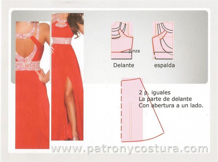 vestido rojo de gasa y lentejuelas