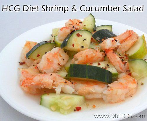 HCG Shrimp & Cucumber Salad Recipe
