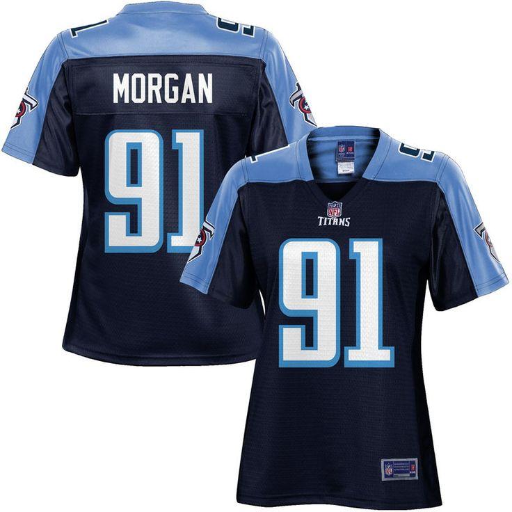 Women's Tennessee Titans Derrick Morgan NFL Pro Line Navy Team Color Jersey