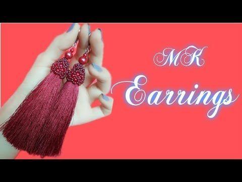 Серьги кисточки из ниток своими руками. Tutorial: Tassel Earrings DIY - YouTube