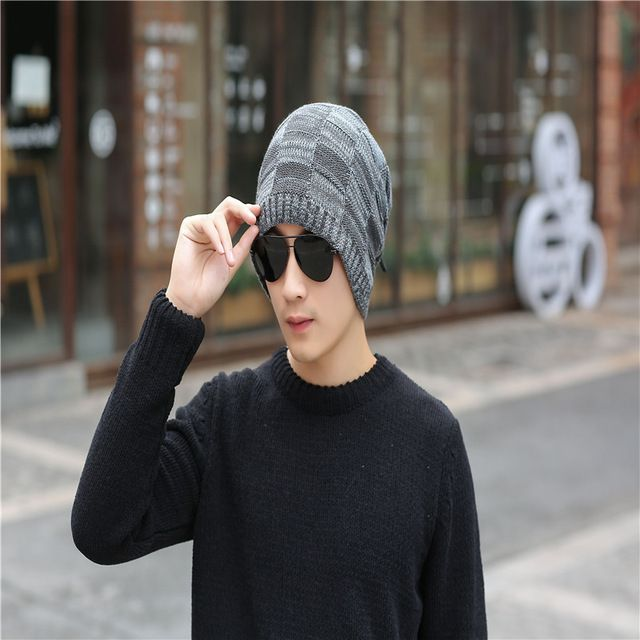 Hot Deals $13.99, Buy 2017 lady winter fashion hat blended knitted female hat Women Skullies Beanies outdoor leisure warm hat fashion ladies Gray T474
