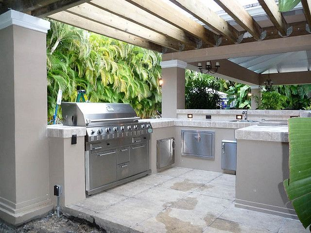 Outdoor Kitchen Pergola Built-in Grill by Outdoor Kitchens & Living of Florida, via Flickr
