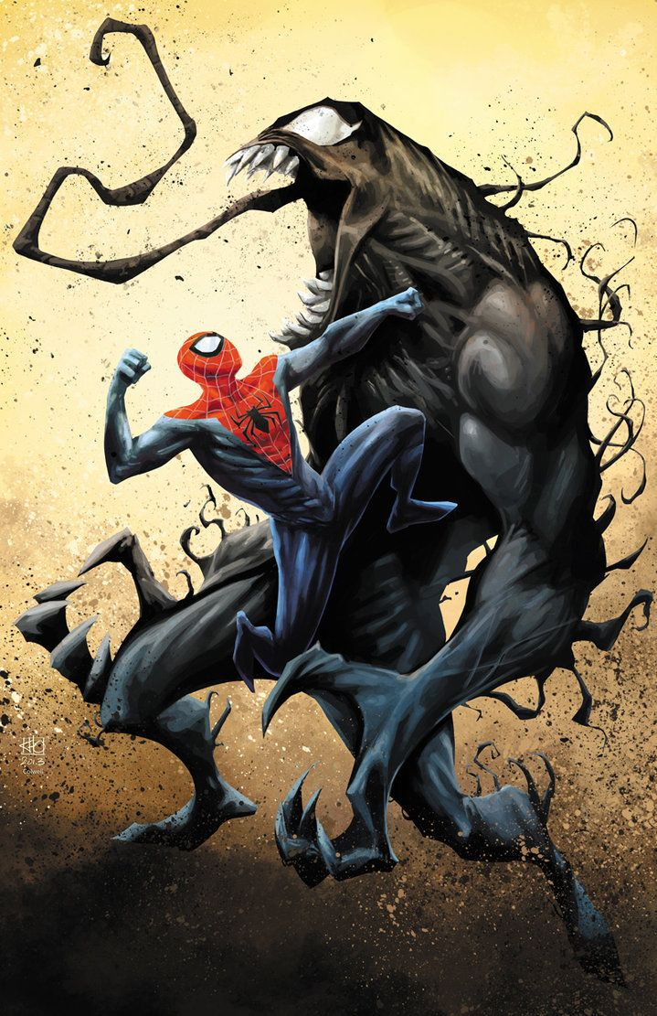 Marvel Comic Book Artwork O Spidey V Venom By Jeremy Colwell Follow Us For More