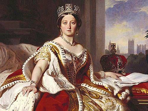"""Rainha Vitoria: Rainha Vitória (1819-1901) foi rainha da Inglaterra e Irlanda. Foi Imperatriz da Índia. Coroada aos 18 anos de idade reinou durante 63 anos e sete meses. Seu reinado ficou conhecido como """"Era Vitoriana"""" período de grande ascensão da burguesia industrial."""