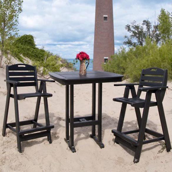 Recycled Plastic High Patio Dining Set | From Hayneedle.