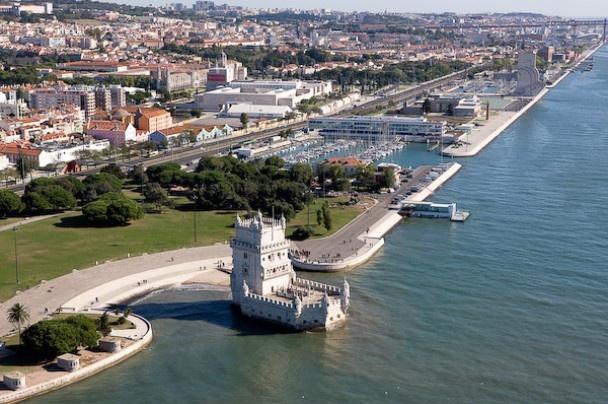 Aerial view of Belem, Lisbon