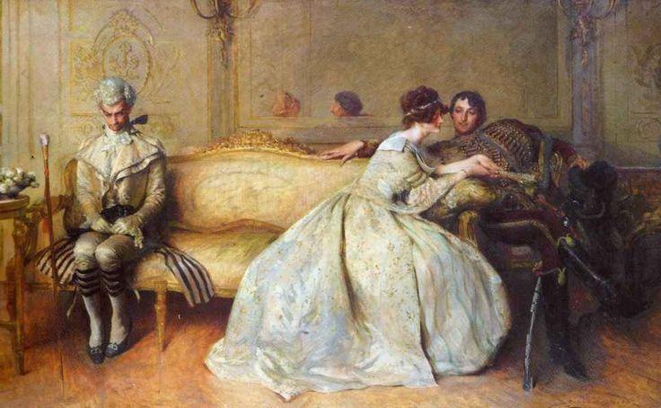 "♥ ""Rivals"" (1904) → John Henry Frederick Bacon (British 1868 /1914)."