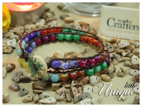 PAY 2 FOR 3! WOW!!!     Unique 2 tiers wrapped bracelets Fabulous Spring by WackyCrafters, $9.00  https://www.etsy.com/listing/125158901/unique-2-tiers-wrapped-bracelets?