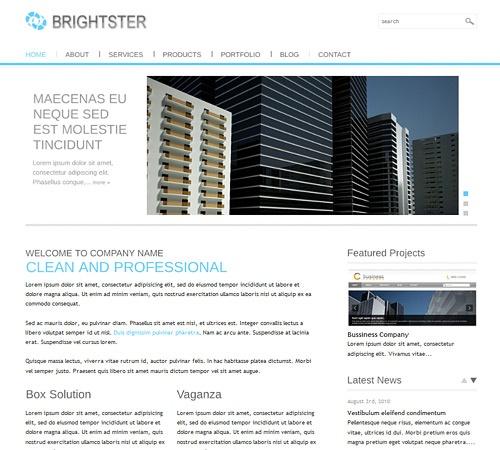 Birghtster wodpress theme