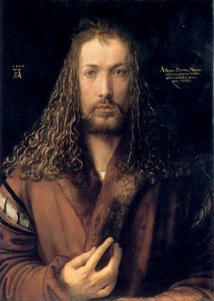 Albrecht Durer, Self Portrait. I love northern Renaissance art!