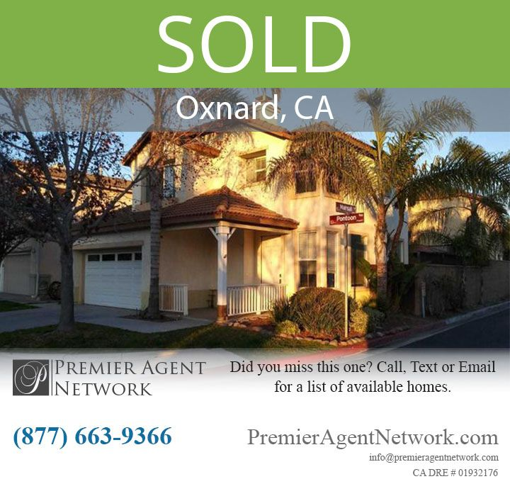 Sold 842 Pontoon Way Oxnard Ca In 2020 Oxnard Real Estate Agent Pontoon