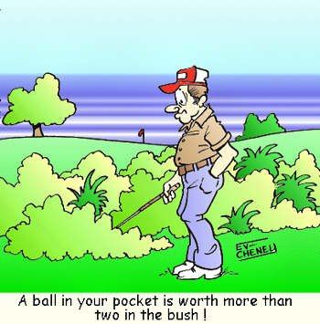 A Ball In Your Pocket Is Worth More Than Two In The Bush