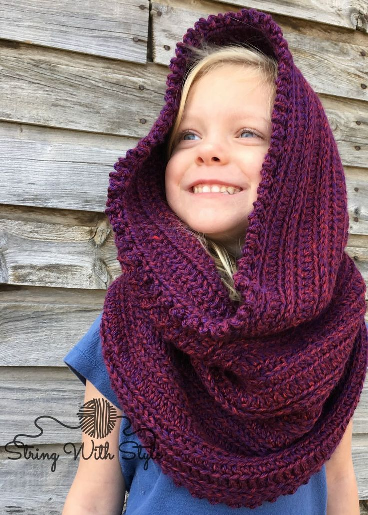 Sleigh Ride Hooded Scarf - Free crochet pattern from String With Style