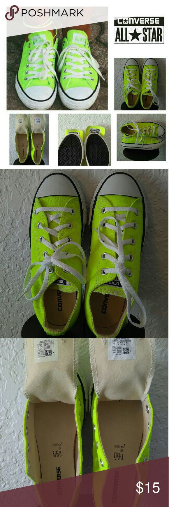"""""""NEON CONVERSE"""" This are cute pair of NEON COLORED """"CONVERSE""""... They have been worn several times (can't tell by the inside)... Yet in GOOD CONDITION! These cuties are SUMMER READY :-) Converse Shoes Sneakers"""