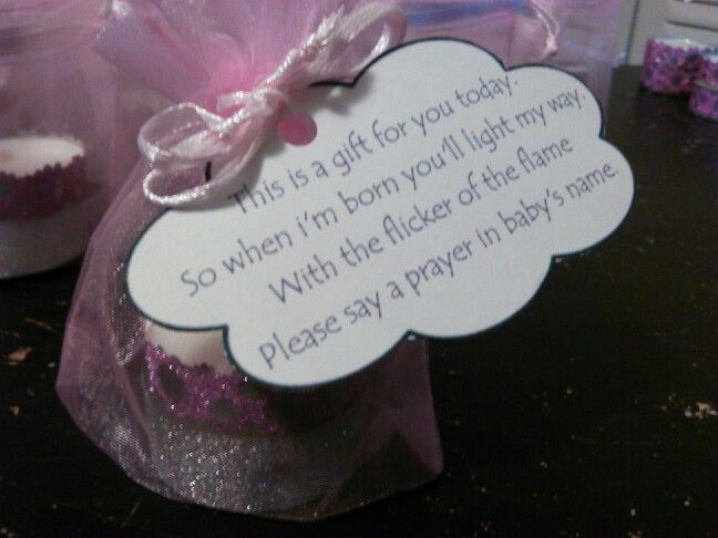 Baby shower favor, tea lights wrapped in washi tape, in an ...