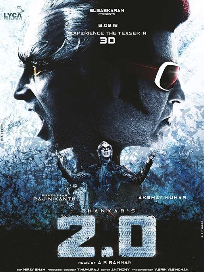 2 Point 0 Poster 2 Hindi Movies Telugu Movies Download Movies By Genre