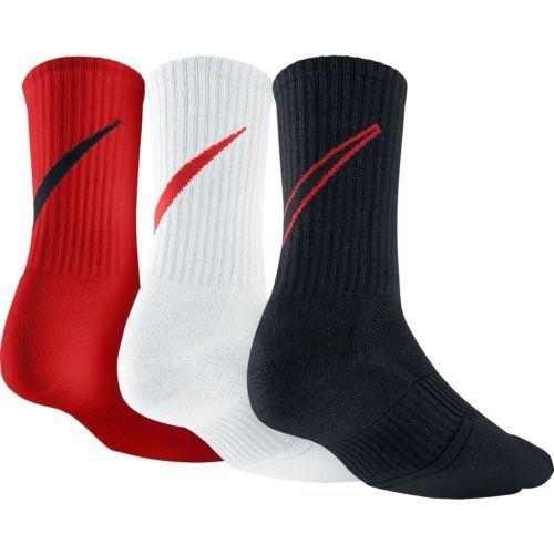 NWT 3 PACK - NIKE DRI-FIT COTTON DFC SWOOSH CREW SOCK SX4950 906 SZ 8-12 #Clothing, Shoes & Accessories:Men's Clothing:Socks ##nike #jordan #girls $10.00